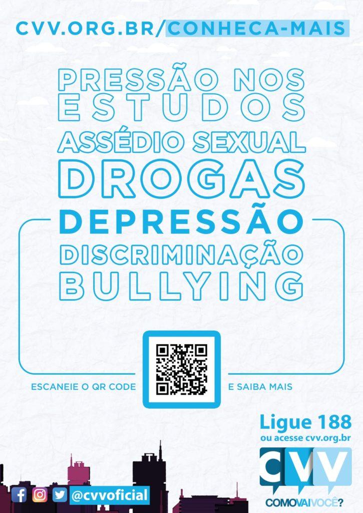 poster sobre a campanha setembro amarelo com QR code