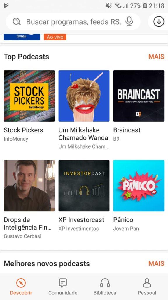 Aplicativo castbox para ouvir podcast. O que é podcast? Onde ouvir?